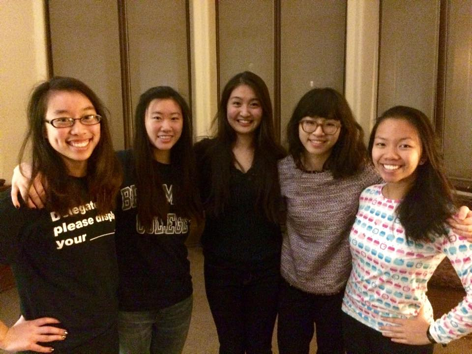 2014-2015 Board (Left to Right: Connie, Miranda, Amy, Ann, Joy)