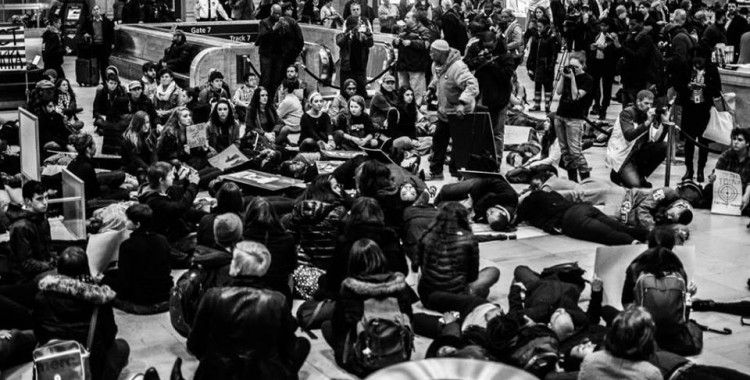 All Black Lives Matter: Die-In, March, & Vigil on the Mainline